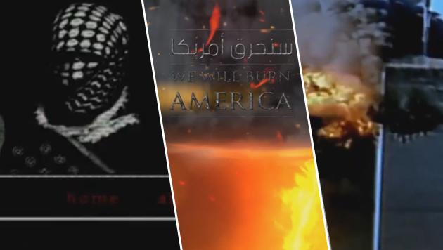"""IS droht: """"Wir werden die USA niederbrennen"""" (Bild: YouTube.com; krone.at-Grafik)"""