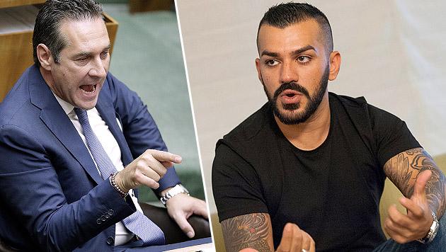 """Nazar darf Strache nicht mehr """"Hurensohn"""" nennen (Bild: APA/GEORG HOCHMUTH, Andreas Graf)"""