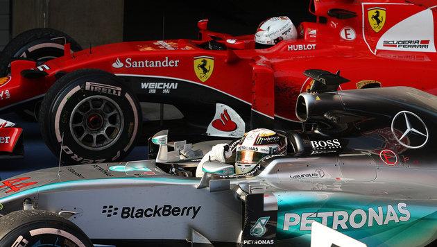 Hamilton gegen Rosberg - jetzt wird's brutal! (Bild: GEPA)