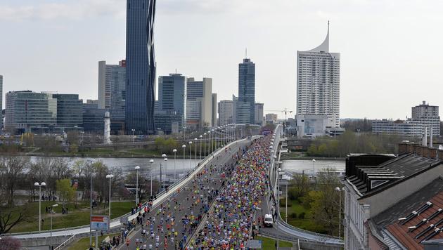 Äthiopier Sisay Lemma gewinnt Wien-Marathon (Bild: APA//HERBERT NEUBAUER)