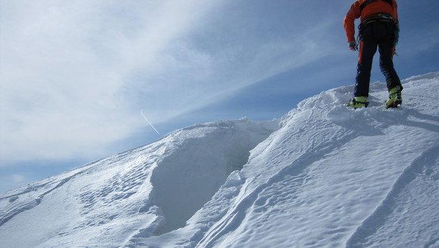 Alpinistin stürzt am Dachstein in Gletscherspalte (Bild: APA/BERGRETTUNG SALZBURG/UNBEKANNT)