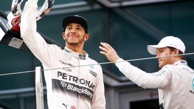"""Hamilton gegen Rosberg - jetzt wird""""s brutal! (Bild: APA/EPA/DIEGO AZUBEL)"""