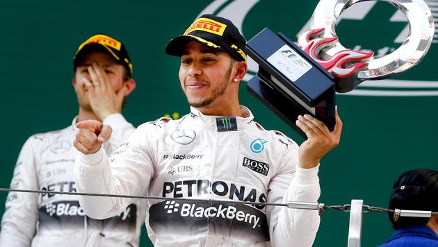 Hamilton vor Rosberg! Mercedes unantastbar (Bild: APA/EPA/DIEGO AZUBEL)