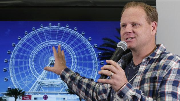 """""""Orlando Eye"""": Nik Wallenda stellt sein nächstes Vorhaben vor. (Bild: AP)"""