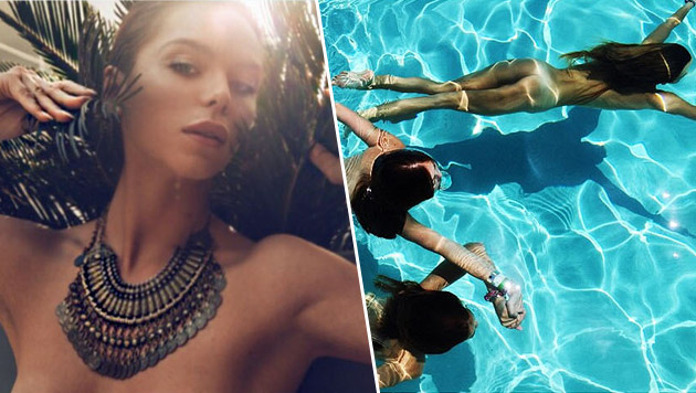 Liliana Nova: Nackte Erfrischung beim Coachella (Bild: instagram.com/lilianahouseofnova)