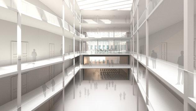 Die BIG baut ein neues Gebäude für die Angewandte in der Vorderen Zollamtsstraße 7 (1. Bezirk). (Bild: Riepl Kaufmann Bammer Architektur)