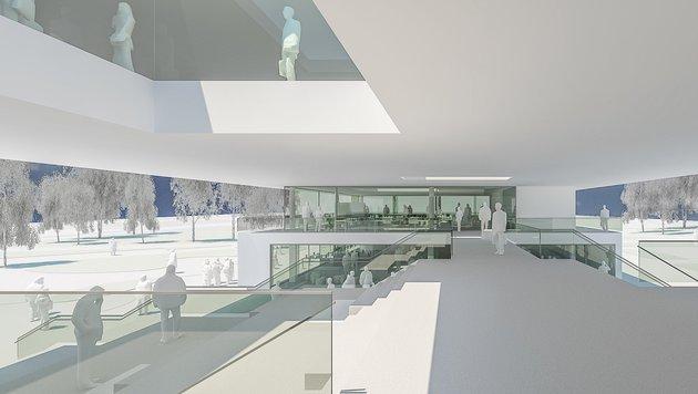 Vetmeduni neu: Drei aufeinander gestapelte Ebenen bilden die Grundcharakteristik des Gebäudes. (Bild: Mitiska Wäger Architekten)