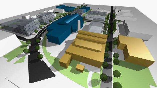 Auf dem Arsenal(3. Wiener Gemeindebezirk) entsteht das Science Center der Technischen Universität. (Bild: TU Wien)