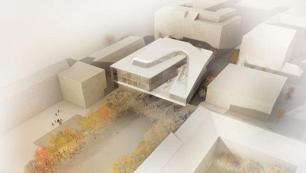 """Das neue Gebäude """"Future Art Lab"""" der Universität für Musik und darstellende Kunst. (Bild: Tomaselli Visual Sensations)"""