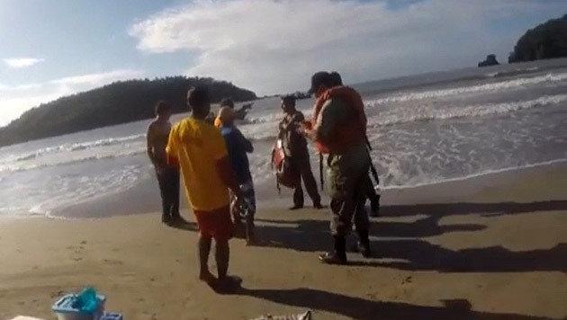 Nach vier Tagen wurde das Paar von der Marine gerettet. (Bild: privat)