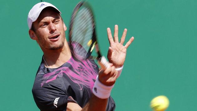 Andreas Haider-Maurer siegt & prallt auf Djokovic (Bild: APA/EPA/SEBASTIEN NOGIER)