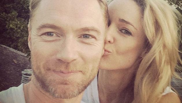 Der irische Sänger Ronan Keating und seine frisch angetraute Frau Storm Uechtritz (Bild: Viennareport)