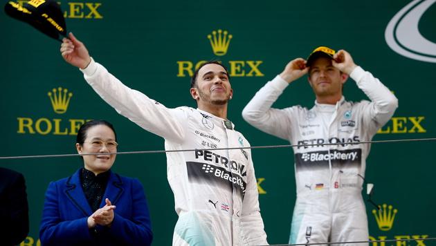 """""""So geht Rennfahren!"""" Hamilton ätzt gegen Rosberg (Bild: APA/EPA/DIEGO AZUBEL)"""