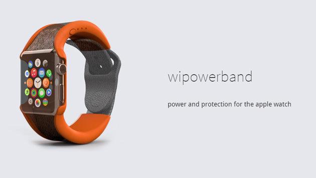 Spezialarmband verdoppelt Laufzeit der Apple Watch (Bild: wipowerband.com)