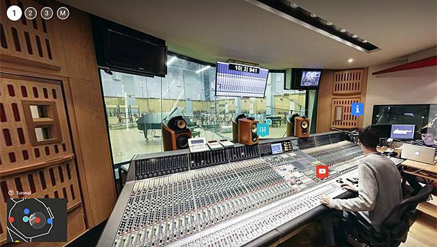 Google gewährt Einblick in Abbey Road Studios (Bild: Google)