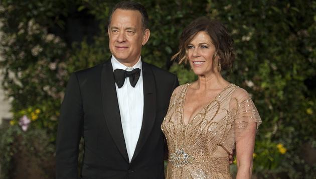 Tom Hanks und seine Ehefrau Rita Wilson (Bild: APA/EPA/WILL OLIVER)