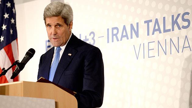 US-Außenminister John Kerry bei der letzten Verhandlungsrunde in Wien im vergangenen November (Bild: APA/EPA/Roland Schlager)
