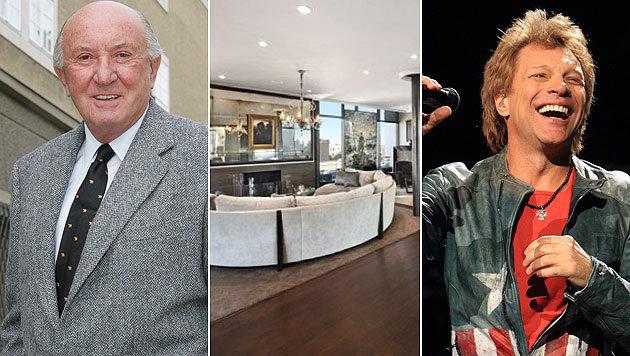 Gerhard Andlinger hat das Luxuspenthouse (Mitte) von Jon Bon Jovi gekauft. (Bild: Joachim Maislinger, Viennareport, AP)