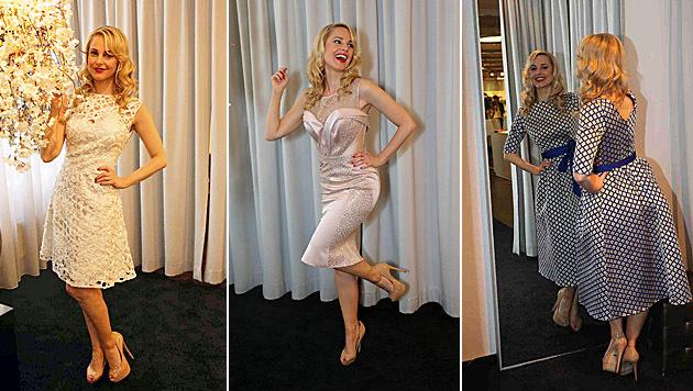 Jedes Kleid von Silvia Schneider trägt einen Namen einer Stilikone der 40er -und 50er-Jahre. (Bild: Starpix/Alexander Tuma)