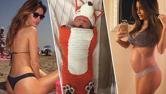 Am 14. April kam Sarah Stages Sohn zur Welt. (Bild: instagram.com/sarahstage)