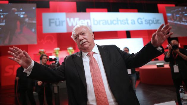 """Faymann: """"Wien darf nicht in falsche Hände kommen"""" (Bild: APA/GEORG HOCHMUTH)"""