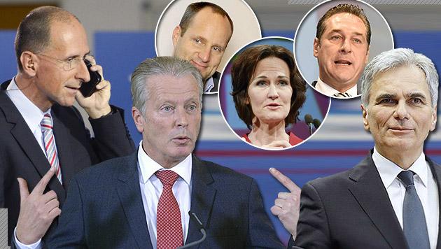 10 Gründe, warum wir Politiker lieben sollten (Bild: APA/STIPLOVSEK/TECHT/OCZERET/NEUBAUER/GUBISCH/BKA/WENZEL)