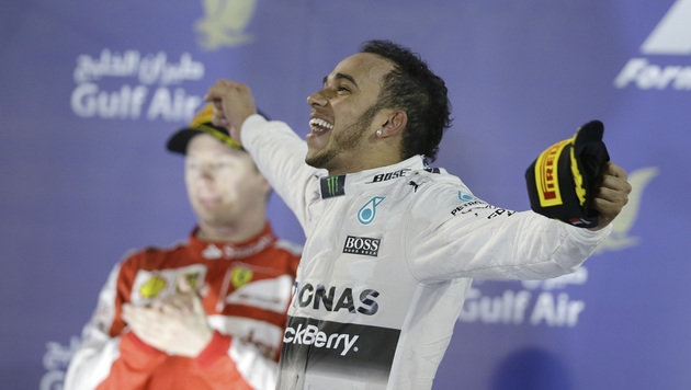 Hamilton: Dritter Sieg! Aber geht er zu Ferrari? (Bild: AP)