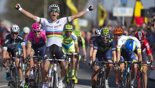 Weltmeister Kwiatkowski gewinnt Amstel Gold Race (Bild: AP)