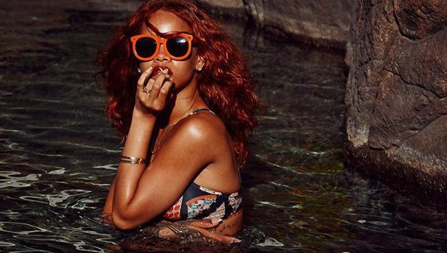 Rihanna: Eine echte Poolschönheit! (Bild: Viennareport)