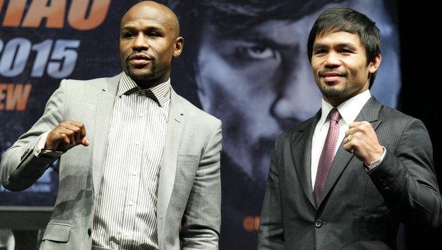 Floyd Mayweather und Manny Pacquiao (Bild: APA/EPA/JONATHAN ALCORN)
