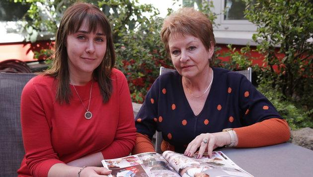 Natalija Tereshchenko (rechts) mit Strahlenopfer Lidiya (Bild: Klemens Groh)