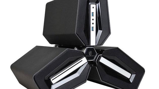 Dreiteiliger Gaming-PC soll besonders kühl bleiben (Bild: CyberPower)