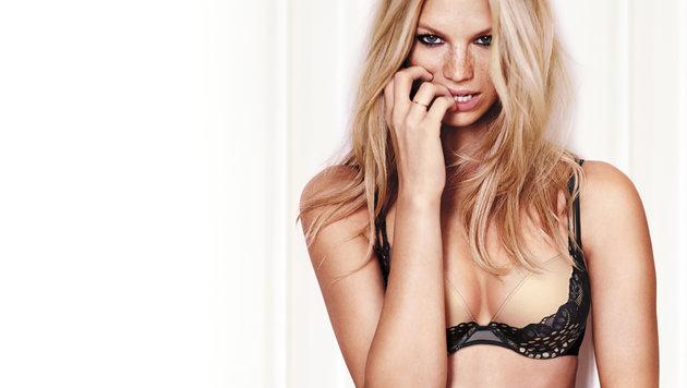 Nadine Leopold zeigt erotische Wäsche für den Valentinstag. (Bild: Viennareport)