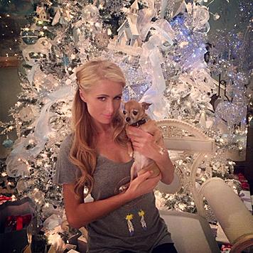 Paris Hilton und Tinkerbell (Bild: Viennareport)