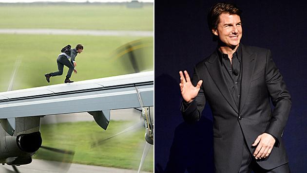 """Tom Cruise hatte vor diesem Stunt """"totalen Schiss"""". (Bild: Viennareport, Chris Pizzello/Invision/AP)"""