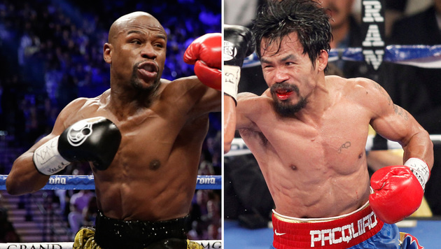 Tyson beschimpft Mayweather vor Jahrhundertkampf (Bild: AP/Isaac Brekken)