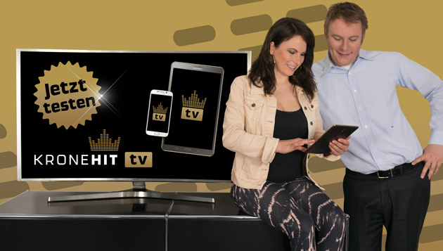 24 Stunden die coolsten Musikvideos auf allen Geräten – das ist KRONEHIT TV! (Bild: kronehit.at)