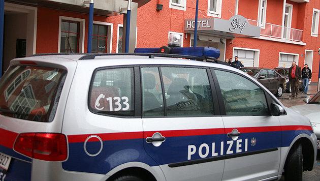 Die Festnahme am Donnerstag (Bild: laumat.at/Matthias Lauber)