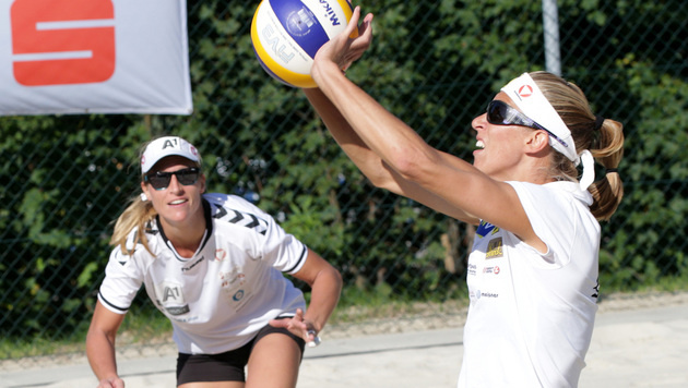 Schwaiger/Hansel zum Saisonstart ohne Satzgewinn (Bild: GEPA)