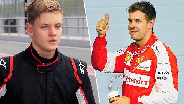 Vettel wird Schirmherr von Schumacher-Sohn (Bild: APA/EPA/JENS WOLF, APA/EPA/SRDJAN SUKI)