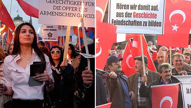 Demo Wien Photo: Gedenkmarsch Und Pro-Türkei-Demo In Wien