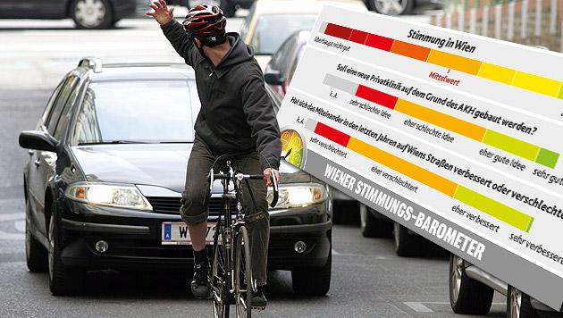 Auf Wiens Straßen regiert das Faustrecht (Bild: APA/HELMUT FOHRINGER, Krone Grafik)