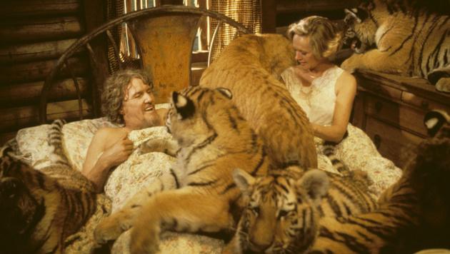 Im Bett mit Raubkatzen (Bild: Eric Brissaud/Eyevine/picturedesk.com)