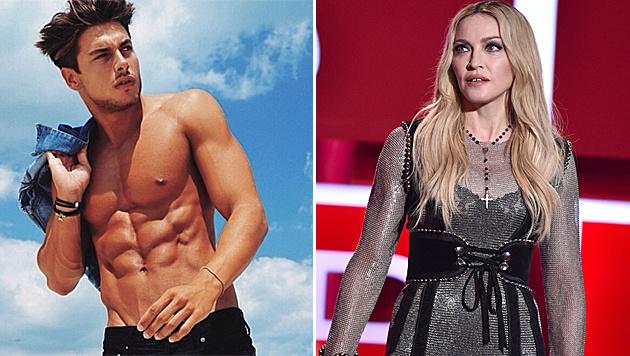 Mit diesem heißen Model bandelt Madonna gerade auf Instagram an. (Bild: instagram.com/andreadenver3, AP)