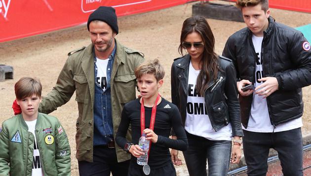 Die Familie Beckham hält zusammen. (Bild: Viennareport)
