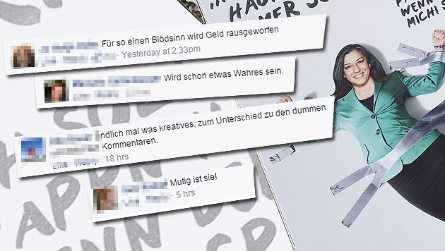 """Das sagen die """"Krone""""-Leser zum Grünen-Plakat (Bild: APA_HANS KLAUS TECHT, facebook.com)"""