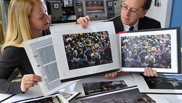 Gedruckte Lautsprecher bringen Fotos zum Klingen (Bild: TU Chemnitz/Pressefoto Schmidt)