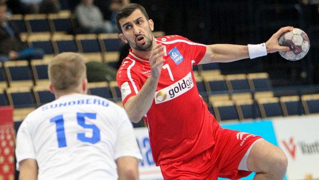 Handballer schaffen EM-Quali-Sieg in Finnland (Bild: APA/EPA/PEKKA SIPOLA)