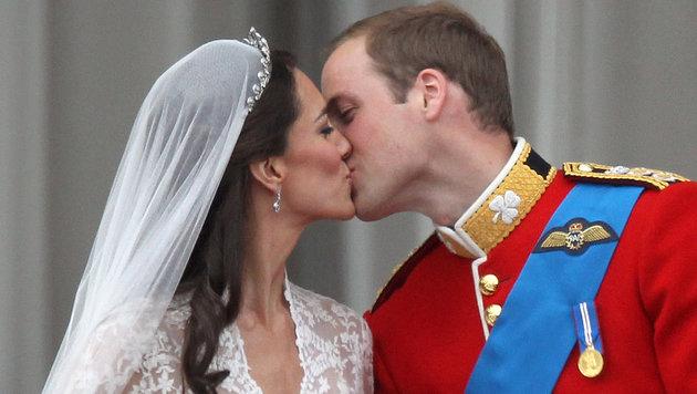 Herzogin Kate und Prinz William haben am 29. April 2011 geheiratet. (Bild: apa/dpa/Kay Nietfeld)