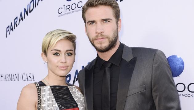 Miley Cyrus und Liam Hemsworth (Bild: AP)